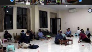 Kondisi salah satu titik peserta Pengajian Akbar Online di Kecamatan Depok